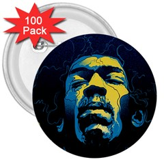 Gabz Jimi Hendrix Voodoo Child Poster Release From Dark Hall Mansion 3  Buttons (100 Pack)  by Samandel