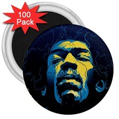 Gabz Jimi Hendrix Voodoo Child Poster Release From Dark Hall Mansion 3  Magnets (100 Pack) by Samandel