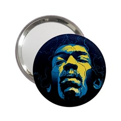 Gabz Jimi Hendrix Voodoo Child Poster Release From Dark Hall Mansion 2 25  Handbag Mirrors by Samandel