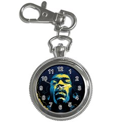 Gabz Jimi Hendrix Voodoo Child Poster Release From Dark Hall Mansion Key Chain Watches by Samandel