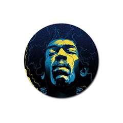 Gabz Jimi Hendrix Voodoo Child Poster Release From Dark Hall Mansion Magnet 3  (round) by Samandel