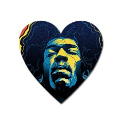 Gabz Jimi Hendrix Voodoo Child Poster Release From Dark Hall Mansion Heart Magnet by Samandel