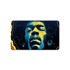 Gabz Jimi Hendrix Voodoo Child Poster Release From Dark Hall Mansion Magnet (name Card) by Samandel