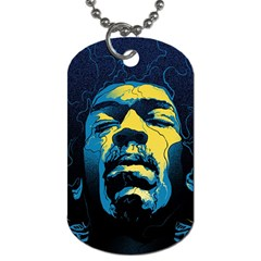 Gabz Jimi Hendrix Voodoo Child Poster Release From Dark Hall Mansion Dog Tag (two Sides) by Samandel