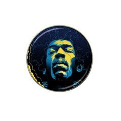 Gabz Jimi Hendrix Voodoo Child Poster Release From Dark Hall Mansion Hat Clip Ball Marker by Samandel