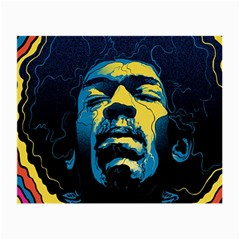 Gabz Jimi Hendrix Voodoo Child Poster Release From Dark Hall Mansion Small Glasses Cloth by Samandel