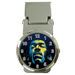 Gabz Jimi Hendrix Voodoo Child Poster Release From Dark Hall Mansion Money Clip Watches by Samandel
