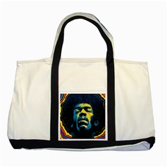 Gabz Jimi Hendrix Voodoo Child Poster Release From Dark Hall Mansion Two Tone Tote Bag by Samandel