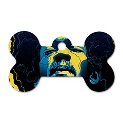 Gabz Jimi Hendrix Voodoo Child Poster Release From Dark Hall Mansion Dog Tag Bone (two Sides) by Samandel