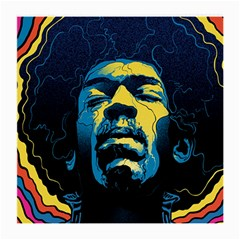Gabz Jimi Hendrix Voodoo Child Poster Release From Dark Hall Mansion Medium Glasses Cloth (2 Side) by Samandel