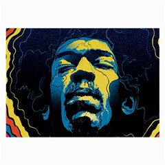 Gabz Jimi Hendrix Voodoo Child Poster Release From Dark Hall Mansion Large Glasses Cloth (2 Side) by Samandel