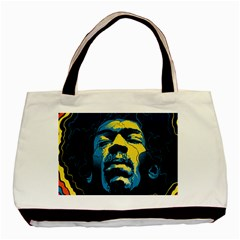 Gabz Jimi Hendrix Voodoo Child Poster Release From Dark Hall Mansion Basic Tote Bag (two Sides) by Samandel