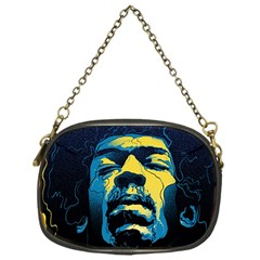Gabz Jimi Hendrix Voodoo Child Poster Release From Dark Hall Mansion Chain Purses (one Side)  by Samandel