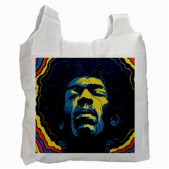 Gabz Jimi Hendrix Voodoo Child Poster Release From Dark Hall Mansion Recycle Bag (one Side) by Samandel