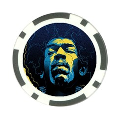 Gabz Jimi Hendrix Voodoo Child Poster Release From Dark Hall Mansion Poker Chip Card Guard (10 Pack)