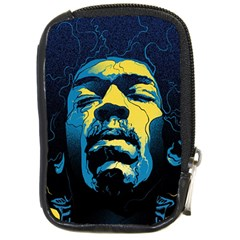 Gabz Jimi Hendrix Voodoo Child Poster Release From Dark Hall Mansion Compact Camera Cases by Samandel