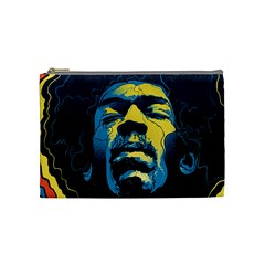 Gabz Jimi Hendrix Voodoo Child Poster Release From Dark Hall Mansion Cosmetic Bag (medium)  by Samandel