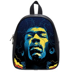 Gabz Jimi Hendrix Voodoo Child Poster Release From Dark Hall Mansion School Bag (small) by Samandel