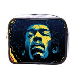 Gabz Jimi Hendrix Voodoo Child Poster Release From Dark Hall Mansion Mini Toiletries Bags by Samandel