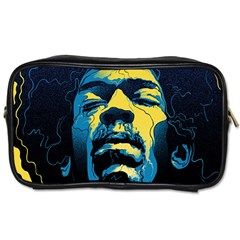 Gabz Jimi Hendrix Voodoo Child Poster Release From Dark Hall Mansion Toiletries Bags by Samandel