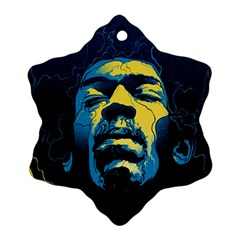 Gabz Jimi Hendrix Voodoo Child Poster Release From Dark Hall Mansion Ornament (snowflake) by Samandel