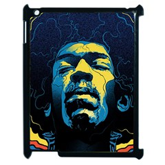 Gabz Jimi Hendrix Voodoo Child Poster Release From Dark Hall Mansion Apple Ipad 2 Case (black) by Samandel