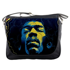 Gabz Jimi Hendrix Voodoo Child Poster Release From Dark Hall Mansion Messenger Bags by Samandel
