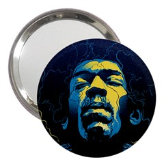 Gabz Jimi Hendrix Voodoo Child Poster Release From Dark Hall Mansion 3  Handbag Mirrors by Samandel