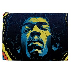Gabz Jimi Hendrix Voodoo Child Poster Release From Dark Hall Mansion Cosmetic Bag (xxl)  by Samandel
