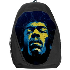 Gabz Jimi Hendrix Voodoo Child Poster Release From Dark Hall Mansion Backpack Bag by Samandel