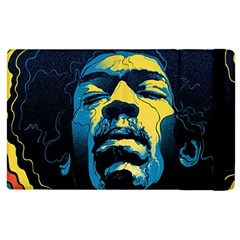 Gabz Jimi Hendrix Voodoo Child Poster Release From Dark Hall Mansion Apple Ipad 2 Flip Case by Samandel