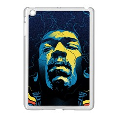 Gabz Jimi Hendrix Voodoo Child Poster Release From Dark Hall Mansion Apple Ipad Mini Case (white) by Samandel