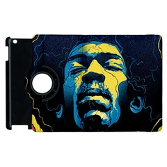 Gabz Jimi Hendrix Voodoo Child Poster Release From Dark Hall Mansion Apple Ipad 3/4 Flip 360 Case by Samandel