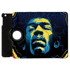 Gabz Jimi Hendrix Voodoo Child Poster Release From Dark Hall Mansion Apple Ipad Mini Flip 360 Case by Samandel