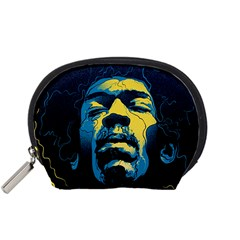 Gabz Jimi Hendrix Voodoo Child Poster Release From Dark Hall Mansion Accessory Pouches (small)  by Samandel