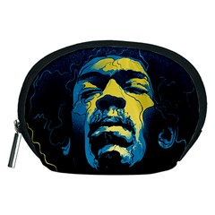 Gabz Jimi Hendrix Voodoo Child Poster Release From Dark Hall Mansion Accessory Pouches (medium)  by Samandel