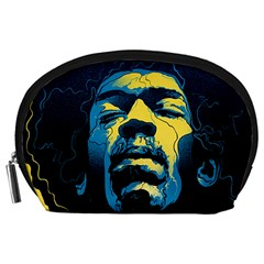Gabz Jimi Hendrix Voodoo Child Poster Release From Dark Hall Mansion Accessory Pouches (large)  by Samandel