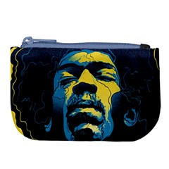 Gabz Jimi Hendrix Voodoo Child Poster Release From Dark Hall Mansion Large Coin Purse by Samandel