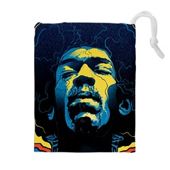Gabz Jimi Hendrix Voodoo Child Poster Release From Dark Hall Mansion Drawstring Pouches (extra Large) by Samandel