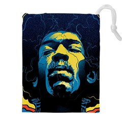 Gabz Jimi Hendrix Voodoo Child Poster Release From Dark Hall Mansion Drawstring Pouches (xxl) by Samandel