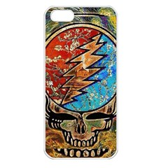 Grateful Dead Rock Band Apple Iphone 5 Seamless Case (white)