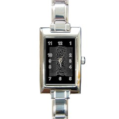 Grayscale Joy Division Graph Unknown Pleasures Rectangle Italian Charm Watch by Samandel