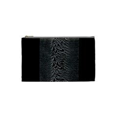 Grayscale Joy Division Graph Unknown Pleasures Cosmetic Bag (small)  by Samandel