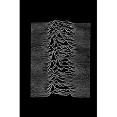 Grayscale Joy Division Graph Unknown Pleasures 5 5  X 8 5  Notebooks by Samandel