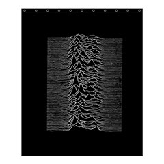 Grayscale Joy Division Graph Unknown Pleasures Shower Curtain 60  X 72  (medium)