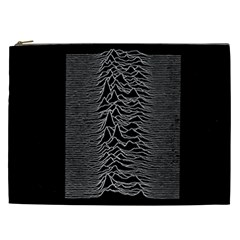 Grayscale Joy Division Graph Unknown Pleasures Cosmetic Bag (xxl)  by Samandel