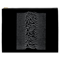 Grayscale Joy Division Graph Unknown Pleasures Cosmetic Bag (xxxl)  by Samandel