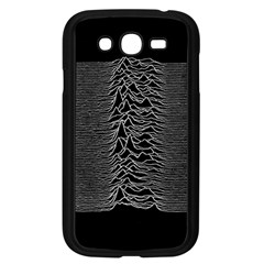 Grayscale Joy Division Graph Unknown Pleasures Samsung Galaxy Grand Duos I9082 Case (black)