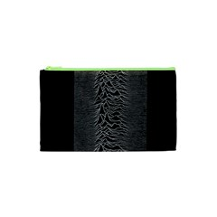 Grayscale Joy Division Graph Unknown Pleasures Cosmetic Bag (xs) by Samandel