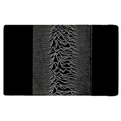 Grayscale Joy Division Graph Unknown Pleasures Apple Ipad Pro 12 9   Flip Case